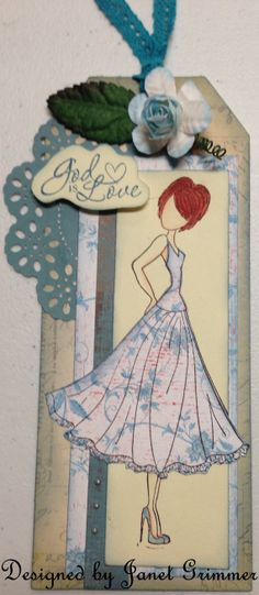 Prima Doll Tag / Card by HeavenlyMoments on Etsy, $5.00