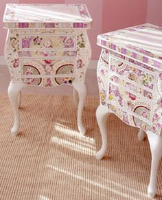 Mosaic Night Stand-Mosaicwares Vintage Night Stands