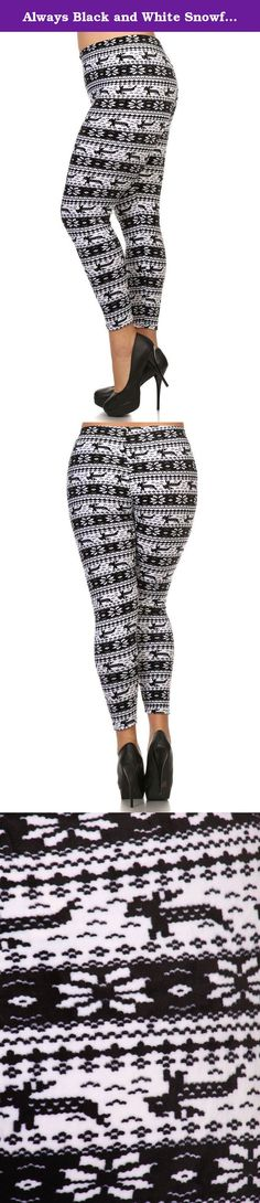 Always Black and White Snowflake Bunny Rabbit Leggings - Holiday Inspired. Indeed a one-of-a-kind pair of leggings for its multi tribal patchwork print pattern, along with knit and regular rise design. WASHING INSTRUCTIONS: We always recommend washing your leggings in cold water (on a hand wash or gentle cycle if you have it) and then hang to dry. Do not use bleach.