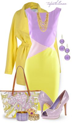 """Purple & Yellow"" by tufootballmom on Polyvore"
