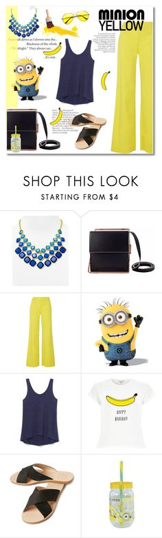 """""""minion yellow"""" by limass ❤ liked on Polyvore featuring ABS by Allen Schwartz, Lautēm, M Missoni, Despicable Me, Rebecca Minkoff, River Island, Dolce Vita, Retrò and minionyellow"""