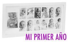 Marco para fotos del primer año del bebé