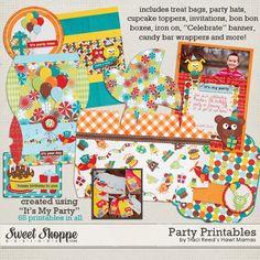 Kit Osito de Fiesta para Imprimir Gratis. - Ideas y material gratis para fiestas y celebraciones Oh My Fiesta!