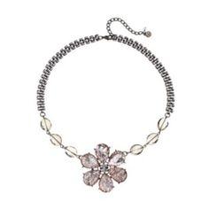 Simply Vera Vera Wang Bead Flower Necklace