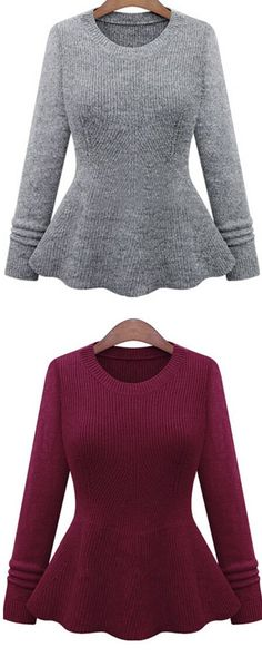 Ruffle Sweater, making teen girls cute and sweet. It can matches lots of kinds clothes, such as skirts, pants, shorts and so on. View more matches for women outfits at www.shein.com