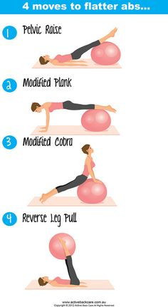 4 Moves to Flatter Abs #fitness #health #exercise