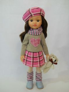 юбка в клетку для куклы Wellie Wishers, Friends Fashion, Pretty Dolls, Knitted Dolls, Red Fashion, Ruby Red, Master Class, Harajuku, Action Figures