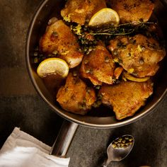 Zesty Braised Chicken with Lemon and Capers Recipe - Grace Parisi | Food & Wine