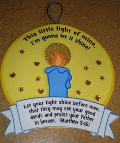 Petersham Bible Book & Tract Depot: This Little Light of Mine Sign Craft Kit