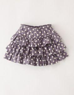 Boden Spotty Ruffle Skirt