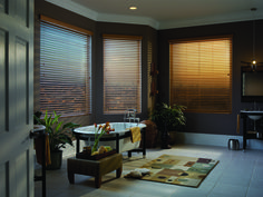 Horizontal Faux Wood (Soft Wood) blinds are the most affordable solution to any window opening. Are you looking for a blind that is built to last. Are you looking for a horizontal blind that will not break the bank?  Faux Wood blinds have the look and feel of real wood and are available in a smooth or textured finish. Contact us today for all of your blind needs!