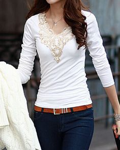 Ethnic Style Scoop Neck Embroider Long Sleeve Cotton Blend Blouse For WomenVintage Blouses | RoseGal.com