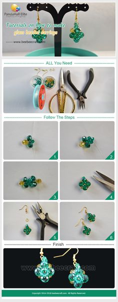 #Beebeecraft #Tutorials on how to make #glass beaded #earrings
