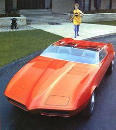 Pontiac 1968 Banshee II (aka Firebird of Tomorrow) in beautiful Tangerine Pearl Frost, later repainted white and called the Firebird Fiero.