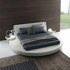 schlafzimmer modern gestalten graue decke weiß verputzte ziegelwand ...