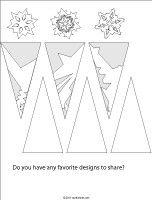 Paper Snowflakes printable patterns
