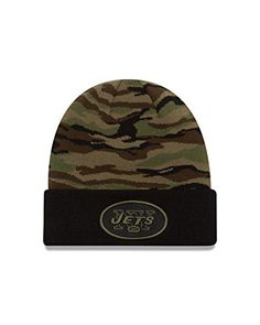 NFL New York Jets Print Play Knit Beanie One Size Woodland Camo ** You can get more details by clicking on the image.