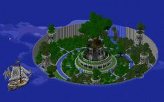 Tree of Life – Brandon Rich - Minecraft World Château Minecraft, Plantas Do Minecraft, Cool Minecraft Creations, Construction Minecraft, Minecraft Medieval, Minecraft Survival, Cool Minecraft Houses, Minecraft Tutorial, Minecraft Blueprints