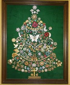 "Ms Bingles Vintage Christmas: Fabulous ""Jewelry Tree"" Picture..."