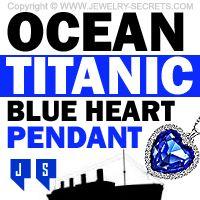 ►► OCEAN TITANIC BLUE HEART PENDANT ►► Jewelry Secrets