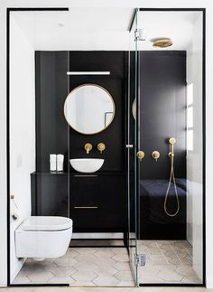Black framed shower is dramatic and chic # shower room - Badezimmer Ideen - Small Bathroom Renovations, Bathroom Remodeling, Remodel Bathroom, Bathroom Makeovers, Budget Bathroom, Bathroom Cost, Remodeling Ideas, Remodeling Companies, Tub Remodel