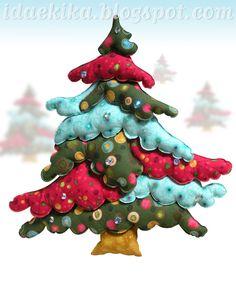 Árvore de Natal da Sorte - versão 2, em patchwork 3D / Christmas