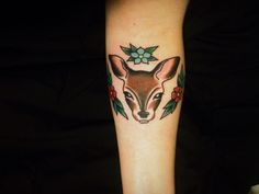 My most recent tattoo. Inspired by the verse Psalm 42:1-2. This little deer and her flowers are my favorite thing.