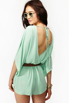 Tied Up Romper - from NastyGal.perfect I just love rompers! Cute Fashion, Look Fashion, Fashion Outfits, Womens Fashion, Vestido Dress, Casual Chique, Summer Outfits, Cute Outfits, Glamour