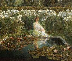 Ladies in the Garden by Childe Hassam