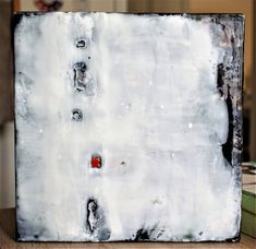 #Original #Abstract #Painting #Encaustic #Mixed  #MixedMedia #Black #Art #Wax  #Parody #Contemporary #White #Red #Texture
