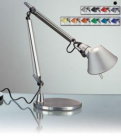 Artemide - Tolomeo Micro - Lampe de table base (jaune et bleu Aluminum Table, Desk Light, Desk Lamp, Table Lamps, Lamp Design, Interior Lighting, Diffuser, Bulb, Flooring