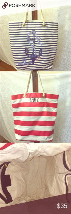 C. Wonder Nautical Tote Bag  Gently Used Beautiful Tote Bag, perfect for the beach!  Priced between $85 - $106.  I will list it at $35, C. Wonder Bags Totes