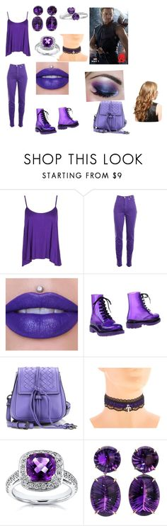 """Clint Barton's daughter"" by mrslexluthorloki ❤ liked on Polyvore featuring Boohoo, Versace Jeans Couture, G·Six Workshop, Bottega Veneta and Annello"
