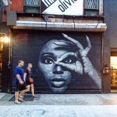 Michele Olivieri @ 118 Orchard Street    Artwork by  Damien Mitchell