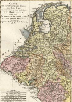 (Holland / Netherlands / Belgium / Flanders / Northern France / etc.). Lovely antique engraved map with hand color. This map exists in numerous variant editions, all engraved upon different plates at diff. | eBay!