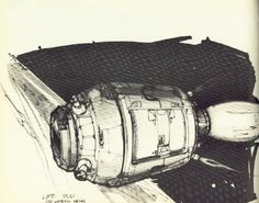 life pod sketch (Joe Johnston - concept artist and effects technician on #starwars)