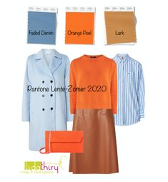 Orange Top Outfit, Color Trends, Color Combinations, Spring Summer Fashion, Spring Outfits, Pantone 2020, Simple Wardrobe, Color Me Beautiful, Fashion Colours