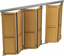 WIN-FOLD® Sliding Cupboard, Wooden Window Blinds, Balcony Grill, Classic Doors, Metal Gates, Solar Shades, Door Canopy, Gate House, Pergola With Roof