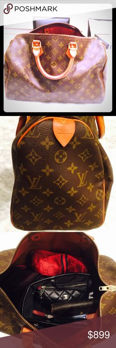 100% AUTH Speedy 35 VINTAGE 100% AUTH Speedy 35 - Vintage...Will be posting more pictures and information soon. There are some flaws on this bag. More info soon. Thanks. Louis Vuitton Bags