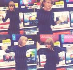 TB when Tay-Tay started jamming out to her own song #style at Target the day 1989 was released!