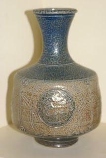 Len Castle Pottery: Salt Glaze -Bottle Vase for St Ives England St Ives England, Bottle Vase, Glaze, Saints, Lens, Castle, Pottery, Stuff To Buy, Decor