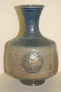 Len Castle Pottery: Salt Glaze -Bottle Vase for St Ives England