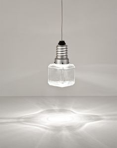 Ice cube shaped ceiling light, cool!