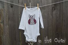 Valentine's Day version of the adorable owl onesie!