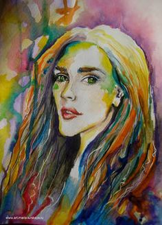 Colorful woman