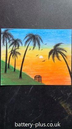 Kid Stick Figure Art Drawings Beautiful, Art Drawings For Kids, Art Drawings Sketches Simple, Oil Pastel Drawings Easy, Oil Pastel Paintings, Oil Pastels, Crayon Painting, Crayon Art, Soft Pastel Art