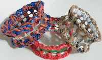 Crochet Pop Tab Plarn Bracelet Tutorial - these would be fun for summer camp or VBS project.