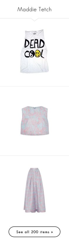 """""""Maddie Tetch"""" by karabear3256 ❤ liked on Polyvore featuring tops, shirts, tank tops, t-shirts, white burnout shirt, burnout tank, unisex shirts, white tank, muscle t shirts and blusa"""