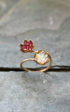 Natural Red Sunstone Excellent Adjustable Design Woman Teen Finger Gemstone Ring