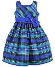 Jayne Copeland Little Girls' Plaid Bow Dress Frocks For Girls, Kids Frocks, Little Dresses, Little Girl Dresses, Cute Dresses, Girls Dresses, Baby Dresses, 50s Dresses, Dress Girl